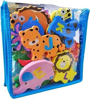 UMat Foam Bath Toys Educational 26pcs Alphabet -Extra Large Baby Bathtub Toys Set-Foam Animal Shape Floating Bath Toys Set...