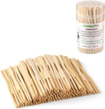 Bamboo Forks 3.5 Inch, Mini Food Picks for Party, Banquet, B