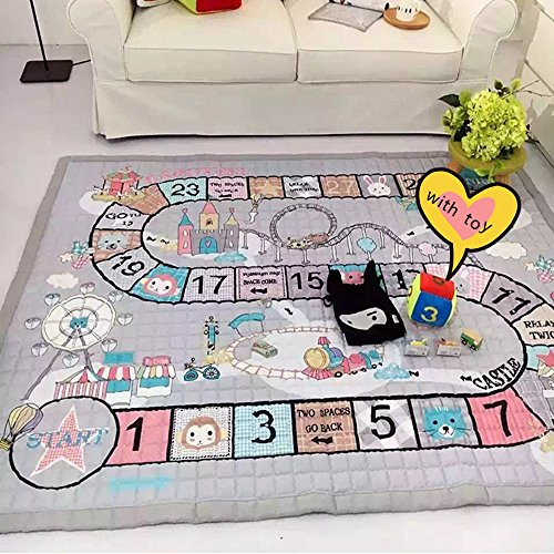 Ustide Baby Crawling Mat Baby Toy Play Mat Carpet Child Game Pad Blanket Picnic Mat,Normal With Toy