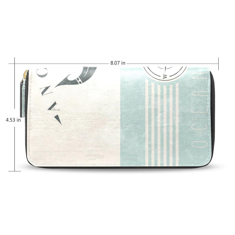 論理的に達成するホイットニーレディースアンカーパターン長財布&財布ケースカードホルダー