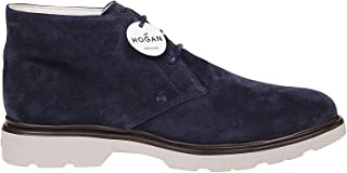 Hogan Luxury Fashion Mens HXM3930W355HG0U801 Blue Ankle Boots |