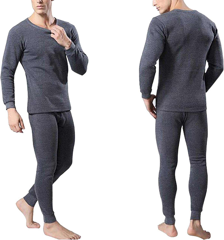 koweis Men's Thermal Underwear Sets Winter Warm Men's Underwear Men's Thick Thermal Underwear,DH,L