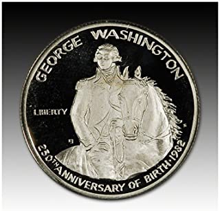 1982 S US Commemorative Proof Silver Half Dollar George Washington 50C OGP US Mint (1/2) Proof DCAM US Mint