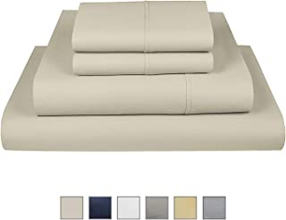 """Fisher West New York Liberty 750 Thread Count Cotton Rich Wrinkle Resistant Ivory Twin Sheet 4-Piece Set fits Mattress Upto 17"""""""