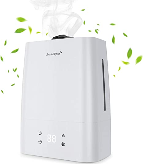 Amazon Com Aroma Room Air Humidifiers For Bedroom 5 5l Cool Mist Humidifier With Aromatherapy Essential Oil Tray Quiet Vaporizer Humidifier For Large Room Babies 50h Run Time 360 Nozzle Auto Shut Off Home Kitchen