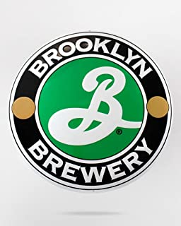 Brooklyn Brewery Embossed Metal Tacker 15 x 15 Inches (Beer Sign)