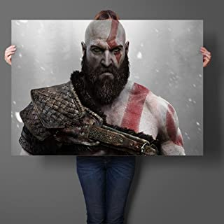 Luxury & Trendy Kratos God of War Game Art Prints Silk Fabric Poster And Print Wall Art Picture Painting Home Decor Wall Sticker