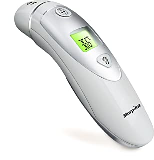 Morpilot Forehead and Ear Thermometer Dual Mode Professional Digital Medical Infrared Thermometer for Adult and Baby-20 Memory Recall Safe and Hygienic, Celsius