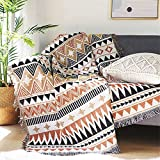 Homesy Southwest Throw Blanket for Couch Bed,Soft Aztec Knitted Woven Southwestern Navajo Throws Tapestry Cover for Living Room Chair Sofa Decorative 51'x63'