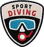 Club of Heroes 2 x Taucher Aufnäher gestickt 62 mm/Sport Diving Patch Aufbügler Flicken Wappen...