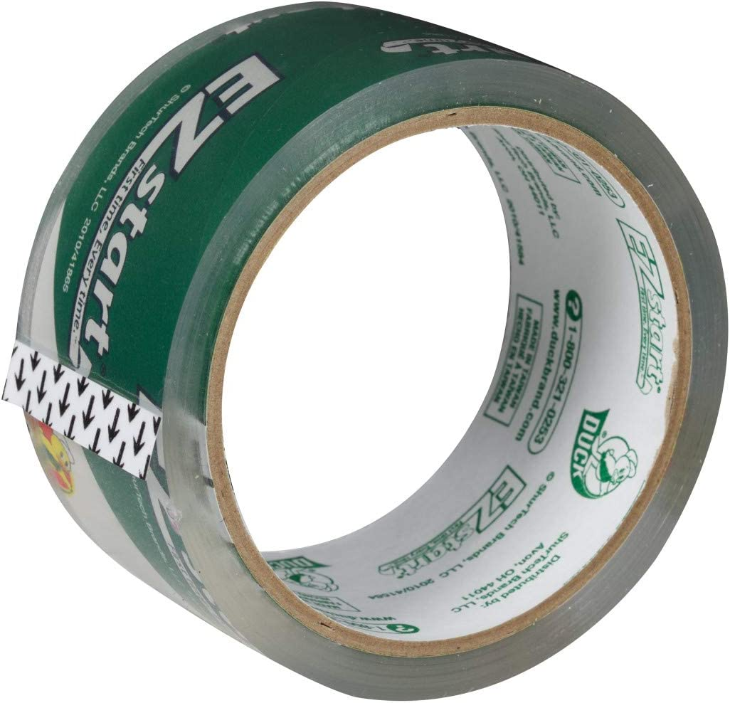 Clear 150 Total Yards of 1.88 Inch Tape Duck EZ Start Packing Tape 3 Rolls 2 Dispensers