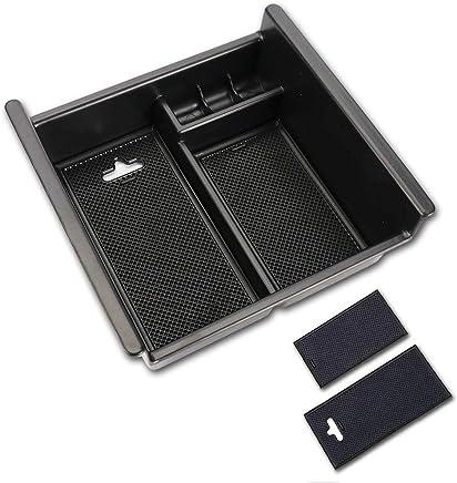 Center Console Armrest Insert Organizer ABS Black Tray Pallet Storage Box Container for Elfa 15-18 4XBEAM