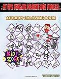 My Cute Dinosaur Coloring Book Toddlers: 45 Fun Quetzalcoatlus, Basilosaurus, Velociraptor, Camarasaurus, Monolophosaurus, Mosasaurus, Meteorite, ... Image Quiz Words Activity And Coloring Books