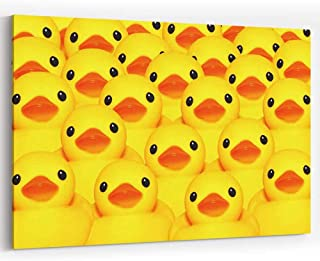 Group for Yellow Rubber Duck Canvas Art Wall Dector Painting Wall Art Picture Print on Canvas