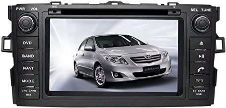 TamYu 7 Inch Touchscreen Monitor Car GPS Navigation System forTOYOTA COROLLA HATCHBACK / TOYOTA AURIS Car Stereo DVD Player +Free Backup Rear View Camera+Free US Map