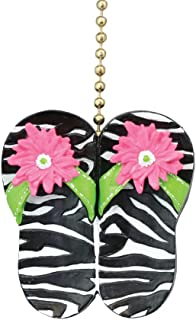Clementine Designs Fun Animal Zebra Print Flip Flop Sandals Ceiling Fan Light Pull