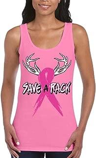 Save A Rack Women's Tank Top Breast Cancer Awareness Tank Tops