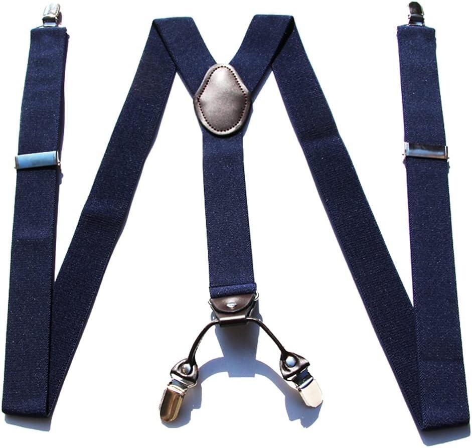 SKREOJF Braces for Men & Women Fully Adjustable Y Shape Adults Slim Suspenders Braces for Trousers (Color : D)