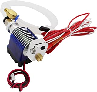 3D Printer Accessories V6 J-Head Hotend RepRap Extruder for 1.75mm Filament, Direct Feed or Bowden. w/0.4mm Nozzle, 12V fan, and 3ft PTFE Bowden Tube