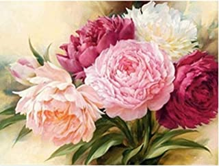 WANGJRU Diamond Mosaic Flower Picture Of Rhinestones Embroidery Floral Home Decor Painting Full Square Drill Cross Stitch ...