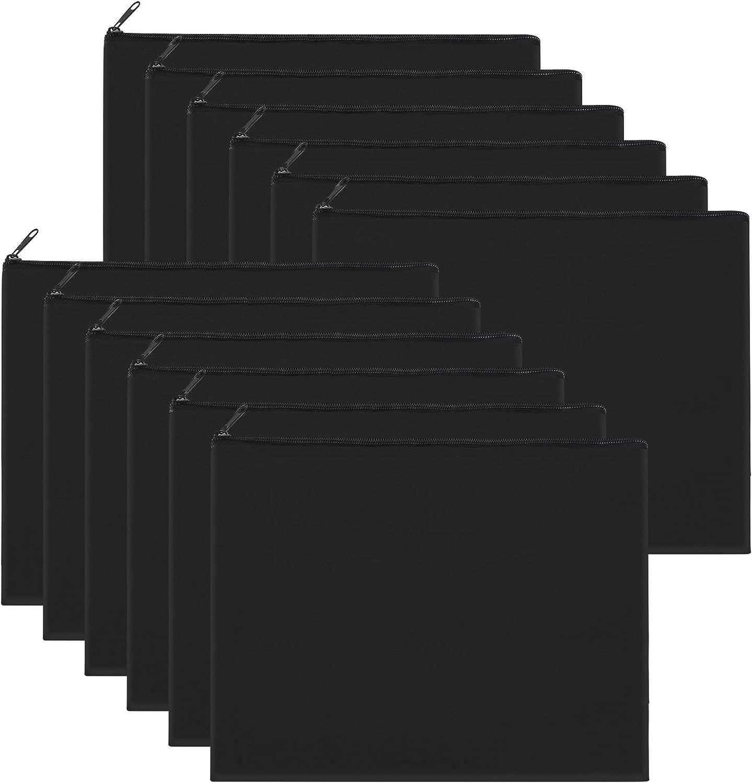 Sinzip 12 Pieces Black Cotton Multipurpose Bag Makeup Co Canvas Dealing Max 56% OFF full price reduction