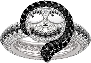 """JEULIA """"Sally from The Nightmare Before Christmas Fashion Rings 925 Sterling Silver Diamond Ring Halloween Jewelry Bridal Set Wedding Engagement Anniversary Promise"""