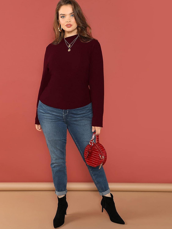 Floerns Women's Long Sleeve Slim Fit Turtleneck Basic T-Shirts