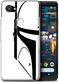 STUFF4 Gel TPU Phone Case/Cover for Google Pixel 2 XL/Bounty Hunter Design/Assault Trooper Helmet Collection