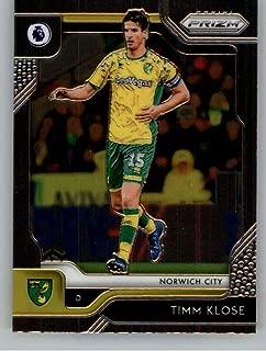 2019-20 Prizm EPL English Premier League #279 Timm Klose Norwich City Official Panini Soccer Futbol Trading Card