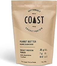 Coast Cricket Protein Powder - 20g Protein, Low Carbs, Gluten Free, Non-GMO Protein Supplement with Amino Acid, Vitamin B12 and Iron - Keto Friendly, No Sugar Added, 1 Pound (Peanut Butter)