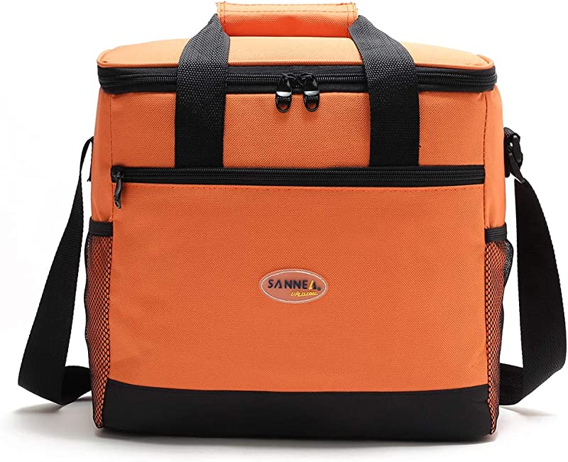 Lixada Insulated Lunch Bag Cooler Bag Tote Bag Foldable Insulated Lunch Box Thermal Lunch Bag For Outdoor Camping BBQ Picnic Food Freshness Cooler Grocery Shoulder Bag