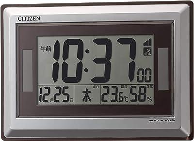 シチズン 掛け時計 電波 デジタル ソーラー アシスト電源 R182 置き掛け兼用 グリーン購入法 適合品 シルバー CITIZEN 8RZ182-019