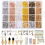 Yholin 3155PCS Earring Making Supplies Kit, 6 Colors Earring Hooks,Open Jump Rings,Earring Back,Lobster...