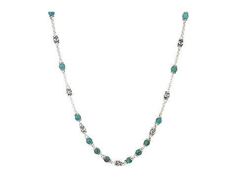 John Hardy Classic Chain Bead Necklace with 4mm Natural Arizona Turquoise