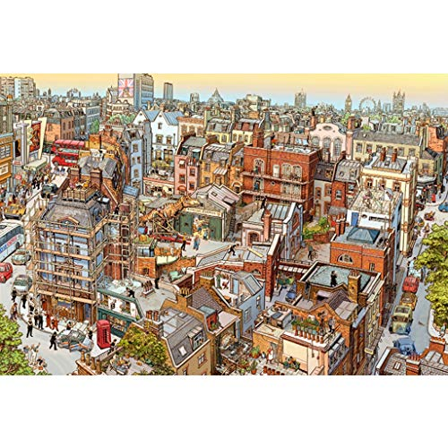 Puzzels 1000 Stuks, 1000/1500/2000/3000/4000/5000 Stukjes, Detective Sherlock, Volwassen Kinderen Cartoon Puzzel Decompressie Speelgoed Familie Spel Cadeau -P4.22 (Size : 2000 pieces)
