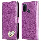 iPEAK For OPPO A53 Case Shiny Leather Bling Glitter Book