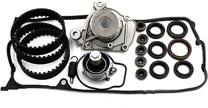 Timing Belt Water Pump Kit & Valve Cover Gasket for 2001-2005 Honda Civic GX DX LX VP EX HX 1.7L D17A1 D17A2 D17A6 D17A7 L4 SOHC 16V