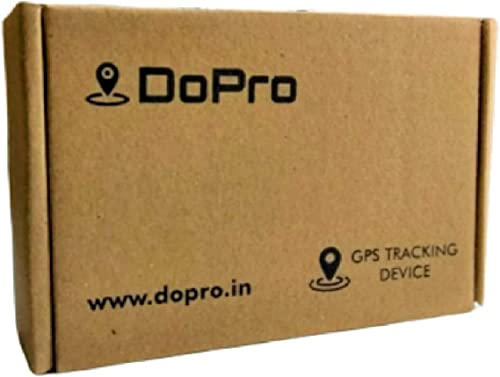 DoPro Waterproof Mini Anti-Theft All Vehicle GPS Tracker and Monitoring Device for Bike/Car/Scooty/E-Rickshaw/Truck/B...