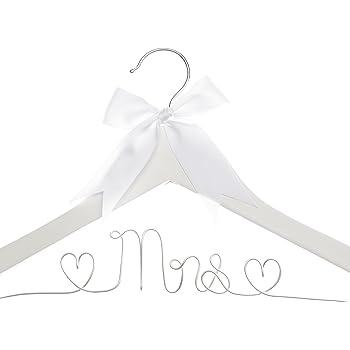 Vintage Wooden Clothes Hanger Wedding Bridal Groom Couple Wardrobe Hanger