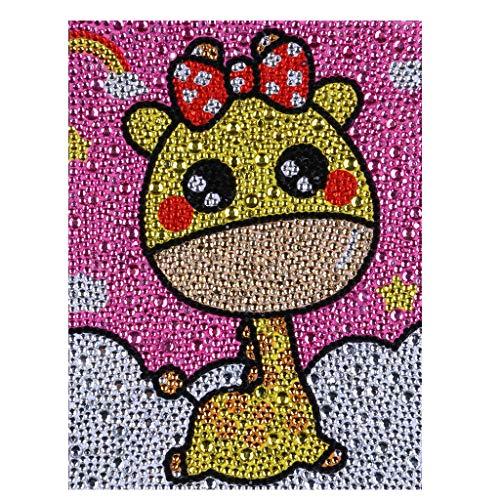 ZSNUOK Diamond Painting Kits for Kids, Diamond Painting for Children Full Crystal Drills Mosaic Making Decorative Kits DIY Paint with Diamonds Arts Crafts - Cute Giraffe