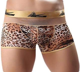 Macondoo Men Stretchy Underwear Classic Leopard Printed Boxer Briefs