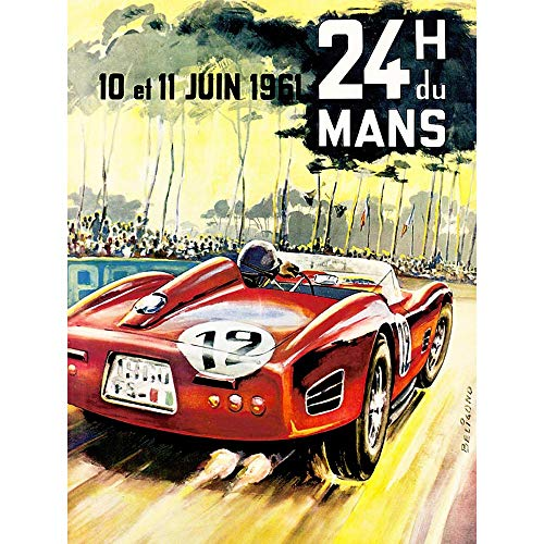 Wee Blue Coo Vintage Advert Transport 24H Du Mans Monaco Grand Prix Art Print Poster Wall Decor 12X16 inch