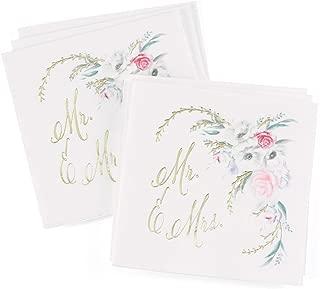 Mr. & Mrs. Ethereal Floral Beverage Napkins - 4.75x4.75in. (50)