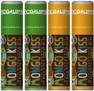 Eco Lips Mongo Kiss 4 Pack Lip Balm- Vanilla Honey and Peppermint