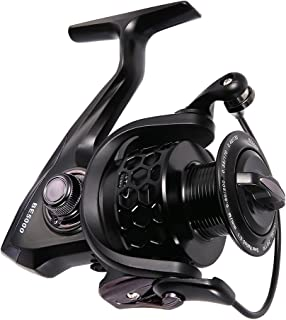 Isafish Spinning Fishing Reels Ultra Smooth 12+1BB 5.1:1 Gear Ratio CNC Machined Aluminum Spool Powerful Bass Gears Reel Saltwater Freshwater