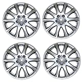 TuningPros WSC3-503S15 4pcs Set Snap-On Type (Pop-On) 15-Inches Metallic Silver Hubcaps Wheel Cover