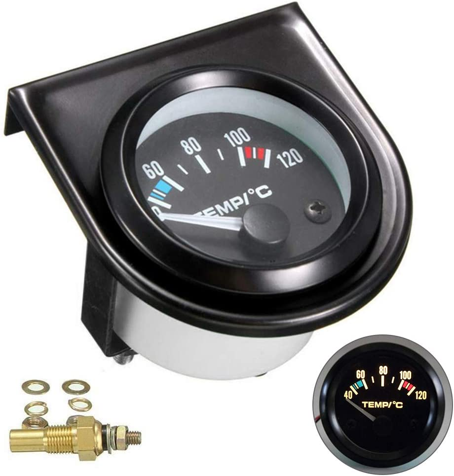 Laoowang Wassertemperaturanzeige Kit 2 52mm Digital Led Universal Auto Wassertemperaturanzeige 40 120 Auto