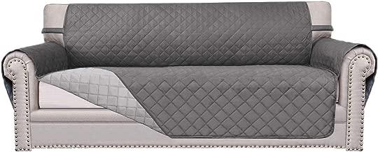 Easy-Going Sofa Slipcover Reversible Sofa Cover Furniture Protector Anti-Slip Foams Couch Cover Water Resistant Elastic Straps PetsKidsChildrenDogCat(Sofa, Gray/Light Gray)