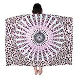 VBIGER Elegante Pareo Rectangular Esterilla de Yoga Toalla de Playa Esterilla con Impression Digital para Mujer (Rojo)