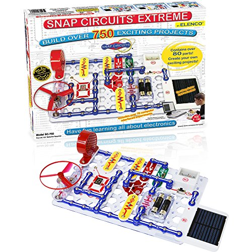 Snap Circuits Extreme 750in1 with Computer Interface and Student amp Teacher Guides | Great for STEM Curriculum | No Storage Case | Electronics Discovery Kit